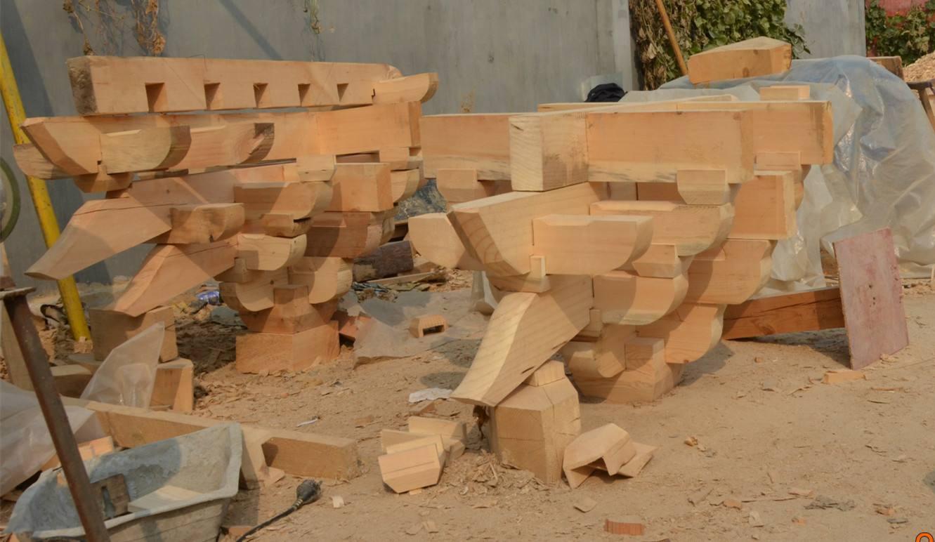 斗拱结构分解图,斗拱有以下哪几个构件