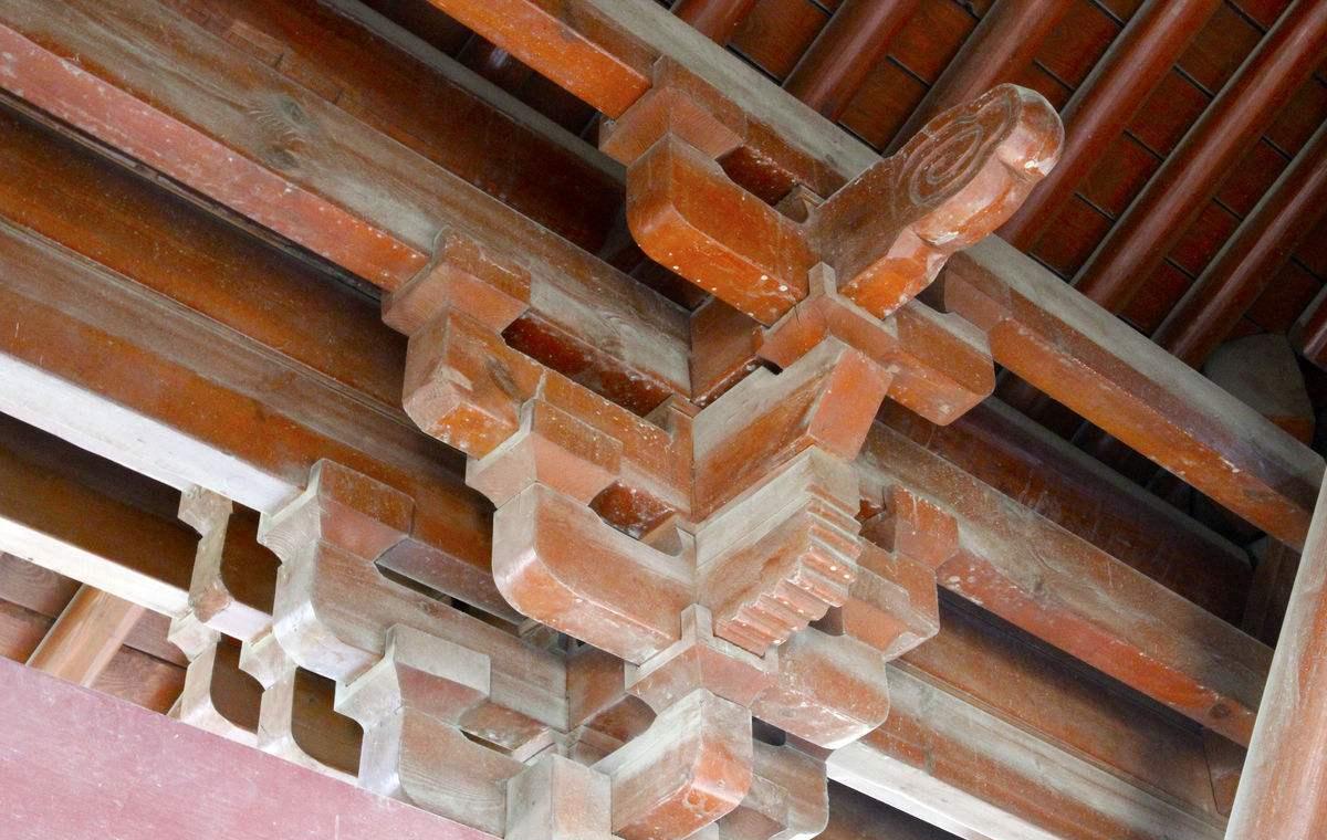 转角斗拱结构分解图,溜金斗拱只能用在
